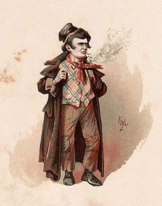 public domain vintage childrens book illustration artful dodger oliver twist clarke