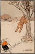 public domain vintage childrens book illustration billy bunny daddy fox 3 hugh spencer