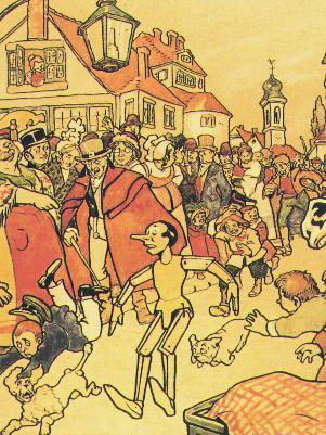 public domain vintage childrens book illustration pinocchio