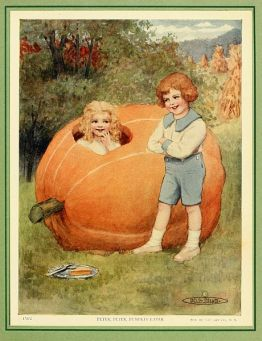 david cory, david cory book, david cory book illustration, the jumble book, jumble book illustration, giant pumpkin, whimsical pumpkin illustration, pumpkin illustration, storybook pumpkin, pumpkin, vintage, vintage illustration, vintage storybook, charming halloween, vintage pumpkin halloween