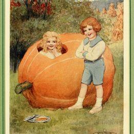 david cory, david cory book, david cory book illustration, the jumble book, jumble book illustration, giant pumpkin, whimsical pumpkin illustration, pumpkin illustration, storybook pumpkin, pumpkin, vintage, vintage illustration, vintage storybook, charming halloween, vintage pumpkin halloween