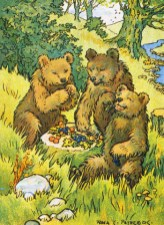 public domain vintage childrens book illustration three bears rosa petherick
