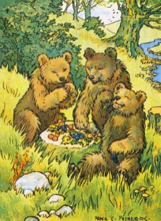 public domain vintage childrens book illustration three bears rosa petherick