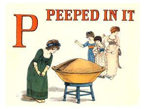 public domain vintage childrens book illustrations kate greenaway apple pie p