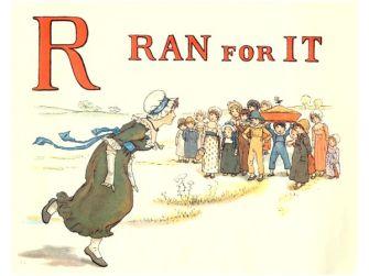 public domain vintage childrens book illustrations kate greenaway apple pie r