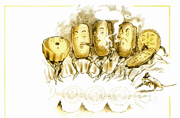 public domain vintage illustration from antique childrens cookbook