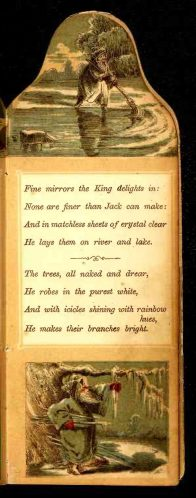 free public domain christmas book, King winter. Antique public domain image.
