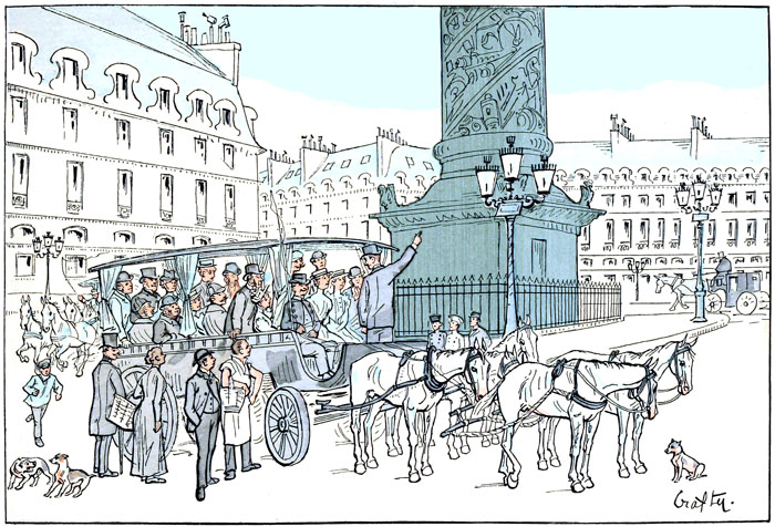 Free public domain illustration of paris france from vintage travel book