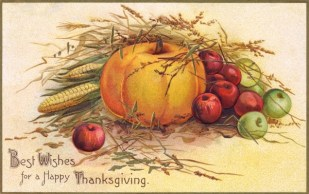public domain color vintage thanksgiving greeting 4