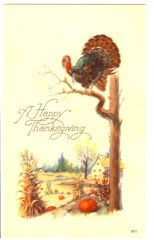 public domain color vintage thanksgiving greeting 5