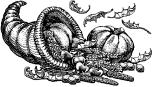 public domain vintage thanksgiving cornucopia