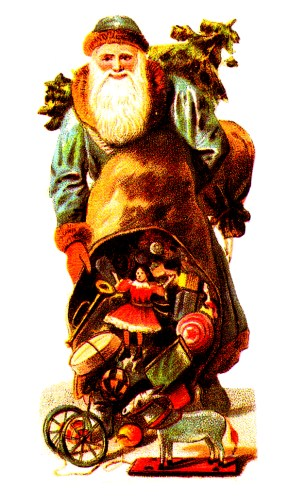 free antique victorian santa claus public domain