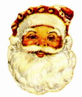 free classic victorian santa face vintage