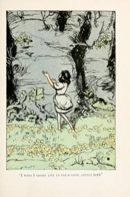 Vintage book illustration from 1913 version of Snow White