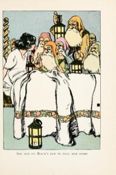 vintage public domain book illustration snow white and the 7 dwarves image 3
