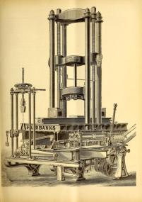 Free vintage scientific illustration of antique testing machine