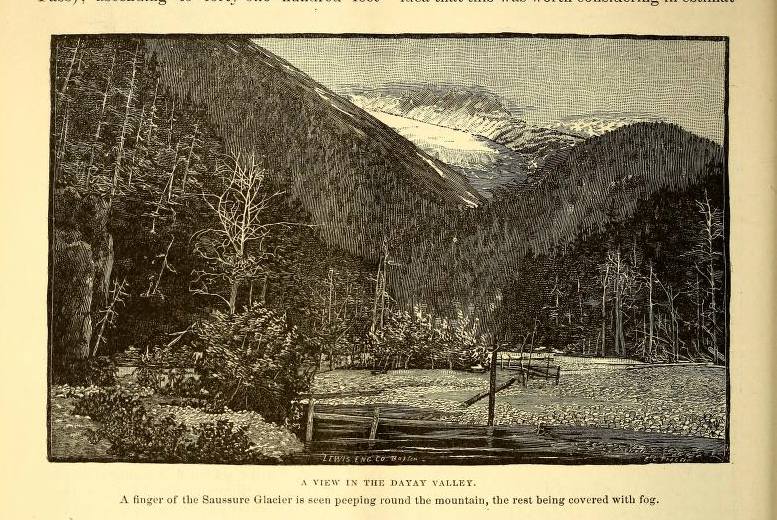 Scientific illustration of 1883 Dayay Valley