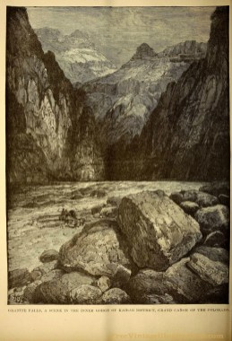 A free public domain vintage scientific illustration of Granite Falls