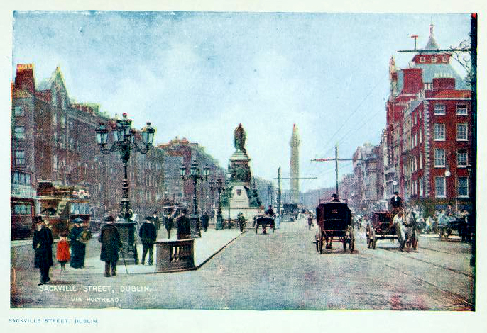 This is a free vintage illustration of early 20th century Dublin Ireland from a 1911 travel book