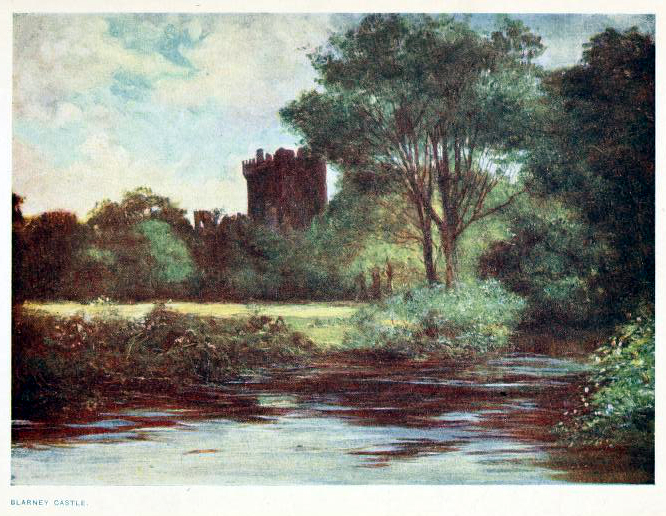 This is a free antique color illustration of early 20th century Ireland from 1911 vintage travel book
