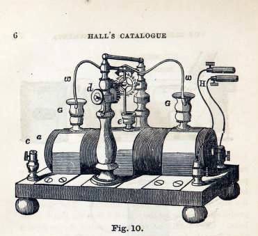 This is a free rare vintage illustration of a medical electrome machine