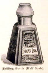 A free vintage illustration of an antique ink well from 1906 art catalog
