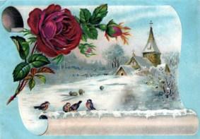 winter illustrations 19th 20th century public domain