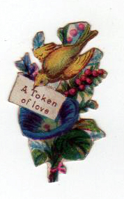 Free Valentine's Day pictures - 19th century paper scrap for Valentine's Day