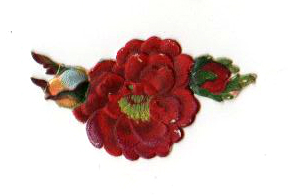 Free Valentine's Day pictures - 19th century pink chrysanthemum die cut scrap