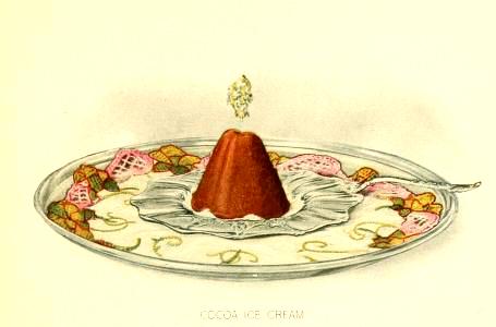free chocolate ice cream dessert illustrations in the public domain