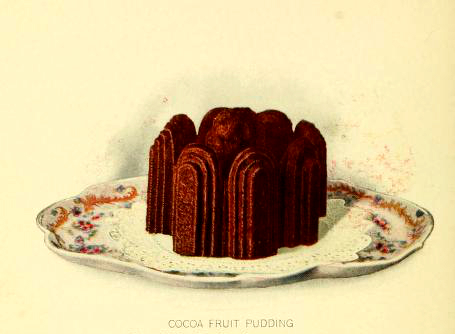 Free vintage dessert illustrations of chocolate pudding