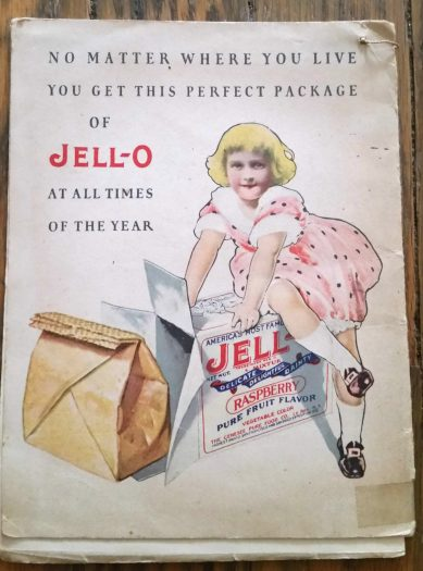 vintage jello cookbook back cover