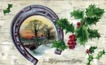 christmas illustration horseshoe