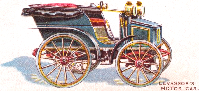Vintage valentine's day car from early 20th century public domain