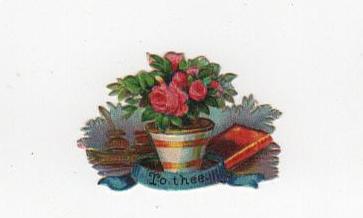Flower pot die cut for Valentine's Day