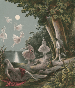 vintage fairy illustration 19th century sheet music public domain