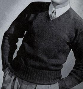 sport yarn v neck