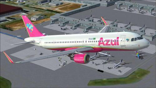Azul Linhas Aéreas PRYRS Airbus A320 CFM Aerosoft A320