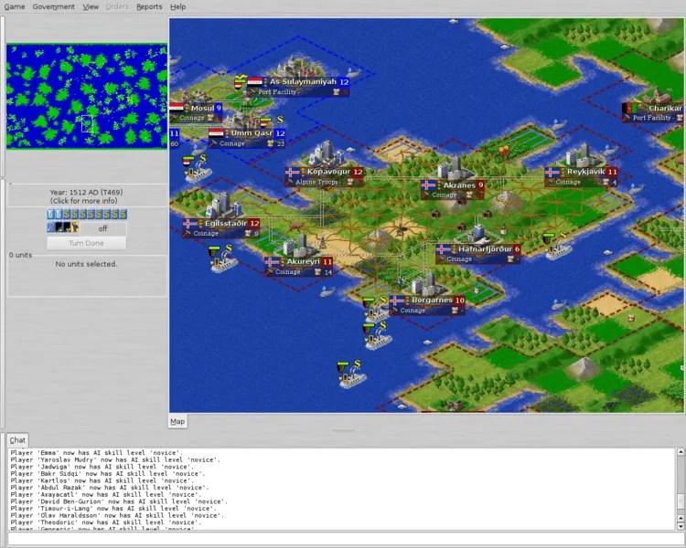 FreeCiv Open Source Screenshot