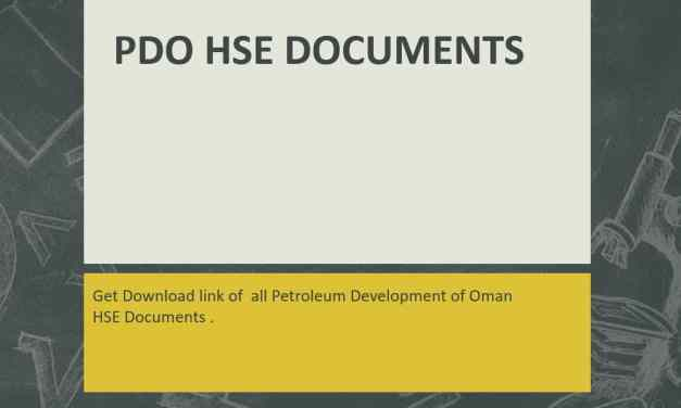 PDO All HSE Management Documents