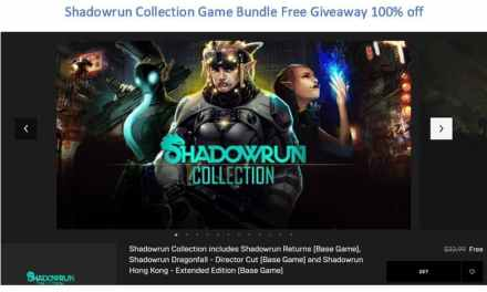 Shadowrun Collection Game 4 BundleS 100% off
