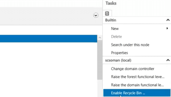 How to Enable Windows server Recycle bin