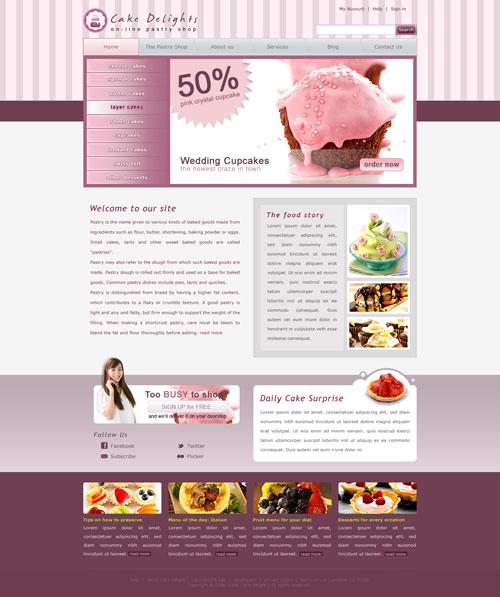 Cake Website Template Free Website Templates