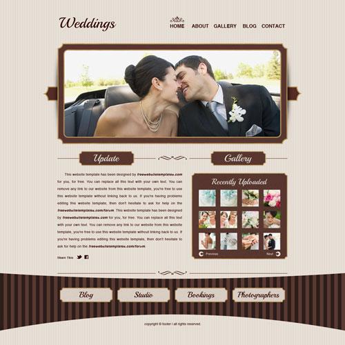 Weddings website template  Free Website Templates