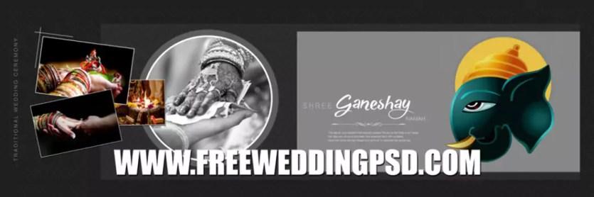 free wedding background psd