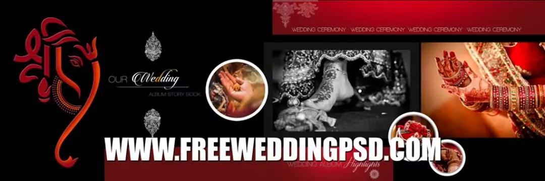free wedding banner psd