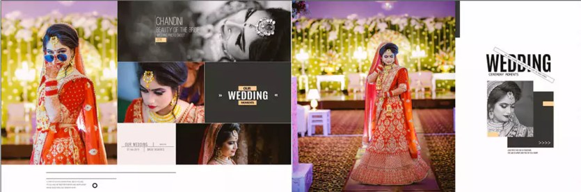 New bride and groom wedding album design 2021