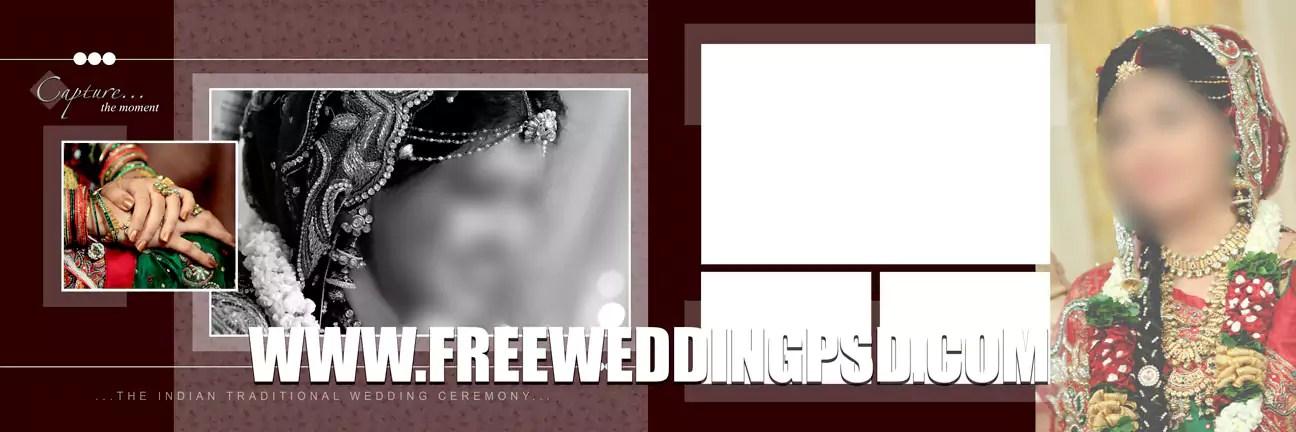 template wedding psd gratis