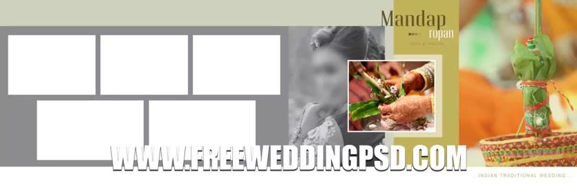wedding album psd layout