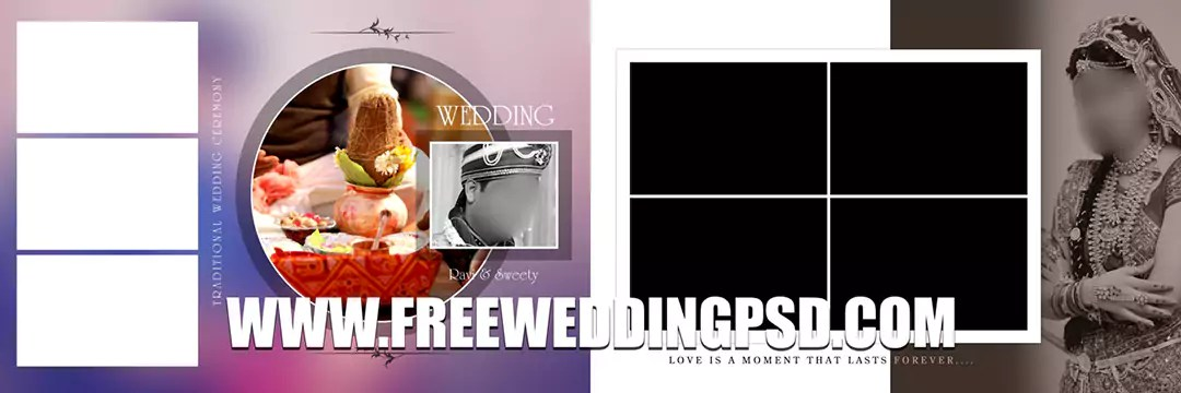 Free Wedding Psd 12 X 36 (735) | indian wedding album psd templates